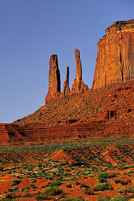 Buttes Photograph - Monument Valley - The Three Sisters by Christine Till