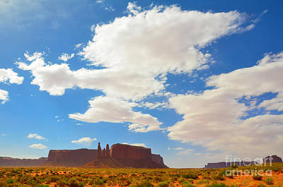 Photograph - Monument Valley Three Sisters by Debra Thompson