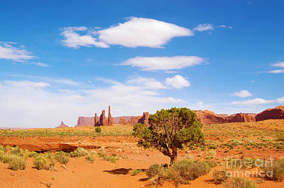 Photograph - Monument Valley Totem Poles by Debra Thompson