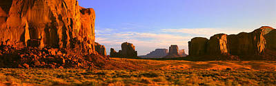 Monument Valley Tribal Park At Sunrise Print by Panoramic Images