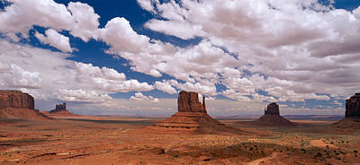Monument Valley Tribal Park Az Art Print by Panoramic Images