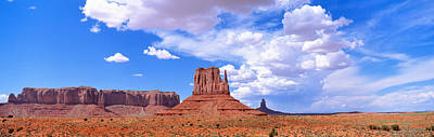 Monument Valley Tribal Park Az Usa Art Print by Panoramic Images