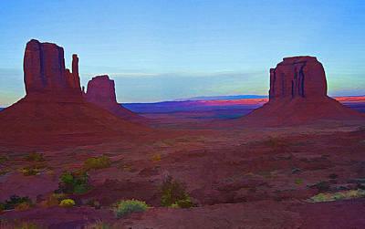 Monument Valley Vista 3 Art Print by Steve Ohlsen