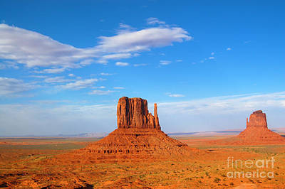 Photograph - Monument Valley West And East Mittens by Debra Thompson