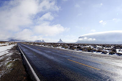 Bob Clark Photograph - Monument Valley Winter by Bob Clark