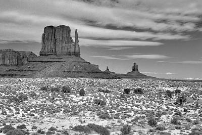 Monument Valley Winter Print by Mel Felix