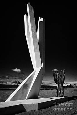 Yugoslavian Photograph - monumento al inmigrante yugoeslavo yugoslavian immigration monument Punta Arenas Chile by Joe Fox