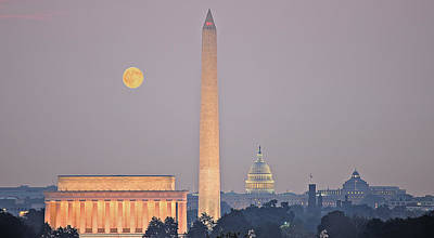 Art Print featuring the photograph Monuments In Moonlight by Michael Donahue