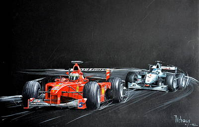 Monza 2000 Print by MICHAUX Michel