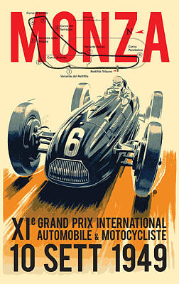Bold Digital Art - Monza Grand Prix by Gary Grayson
