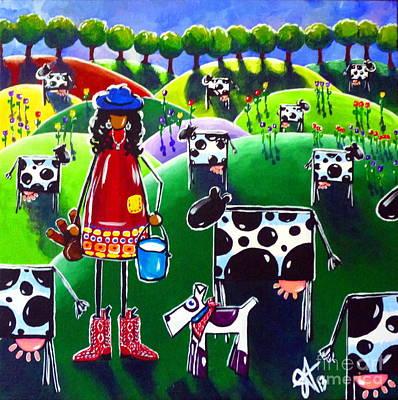 Moo Cow Farm Art Print by Jackie Carpenter