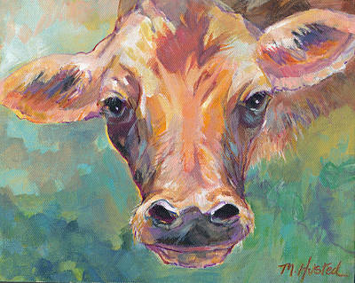 Painting - Moo by Marty Husted