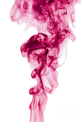 Angels Smoking Painting - Mood Colored Abstract Vertical Deep Purple Smokel Art 01 by Alexandra K