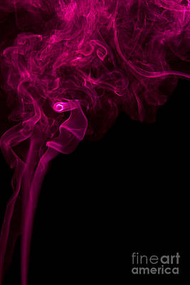Angels Smoking Painting - Mood Colored Abstract Vertical Purple Smoke Wall Art 01 by Alexandra K