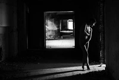 Nude Portraits Photograph - Mood From Light And Body by Thanakorn Chai Telan