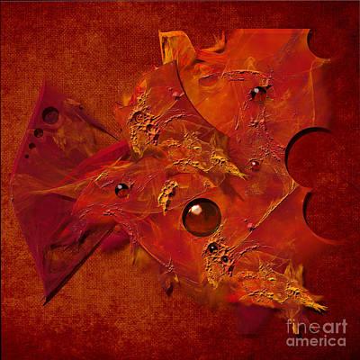 Digital Art - Mood In Orange by Alexa Szlavics