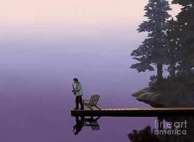 Sunset Painting - Mood Indigo  by Michael Swanson