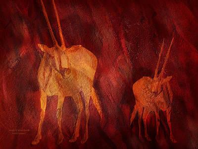 Mixed Media - Moods Of Africa - Gazelle by Carol Cavalaris
