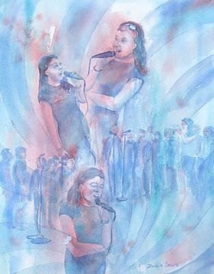 Painting - Moods Of Singing by Debbie Lewis