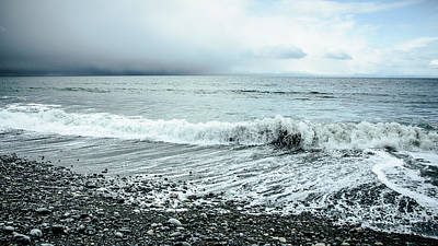 Photograph - Moody Shoreline French Beach by Roxy Hurtubise
