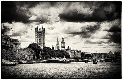 Photograph - Moody Big Ben London  by Lenny Carter