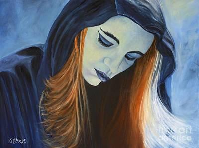 Moody Blue Art Print by Caroline Street