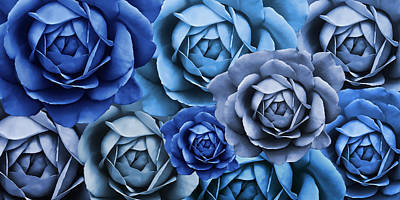 Photograph - Moody Blues Rose Flower Abstract by Jennie Marie Schell