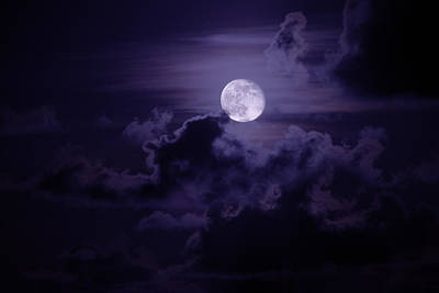 Supermoon Photograph - Moody Moon by Chad Dutson