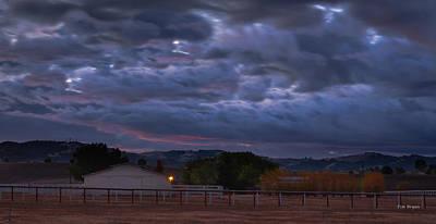 Photograph - Moody November Sky by Tim Bryan