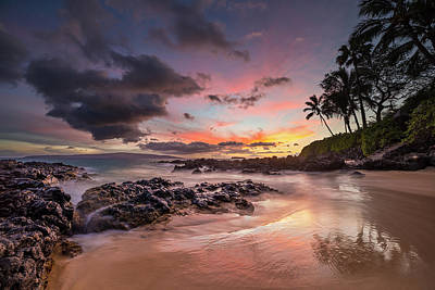 Photograph - Moody Sunset At Secret Cove Maui by Pierre Leclerc Photography