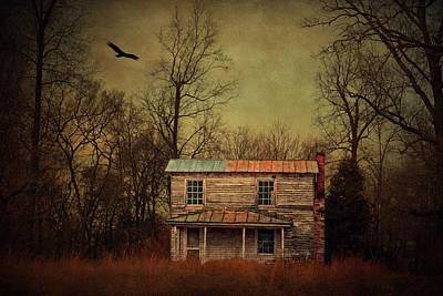 Abandoned House Photograph - Moody Virginia by Emily Stauring