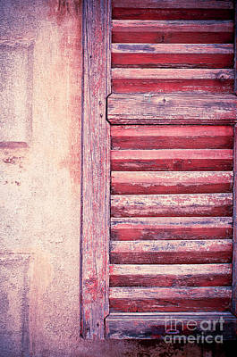 Photograph - Moody Weathered Shutter by Silvia Ganora