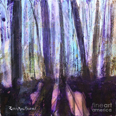 Painting - Moody Woods by Robin Maria Pedrero