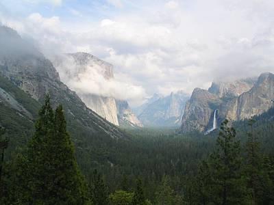 Yosemite Half Dome Photograph - Moody Yosemite by Stu Shepherd