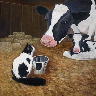 Painting - Mooeow by Karen Zuk Rosenblatt