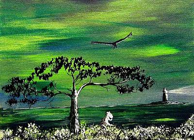 Painting - Moomintroll And Lighthouse by Anastasiya Malakhova