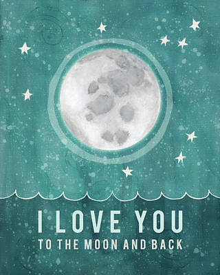 Moon And Back Art Print by Lisa Barbero