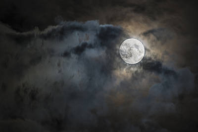 Photograph - Moon And Clouds by Loree Johnson
