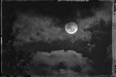Photograph - Moon And Clouds by Mick Anderson