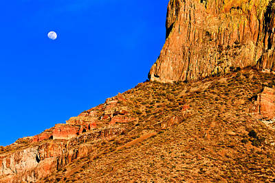 Photograph - Moon And Mountain by Ben Graham