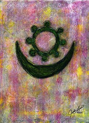 Moon And Star Art Print