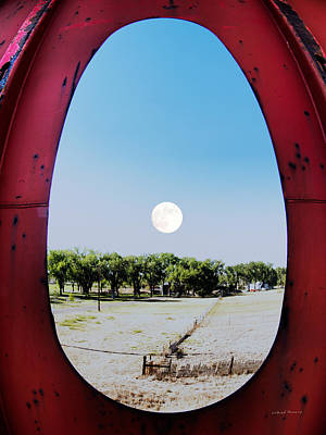 Photograph - Moon And Steel by Leland D Howard