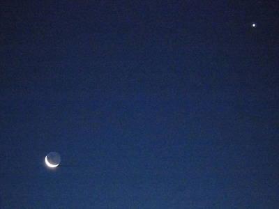 Photograph - Moon And Venus by Susan Sidorski