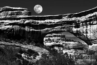 Photograph - Moon Arch by Paul W Faust -  Impressions of Light