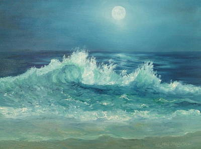 Painting - Moon Beach Painting by Amber Palomares