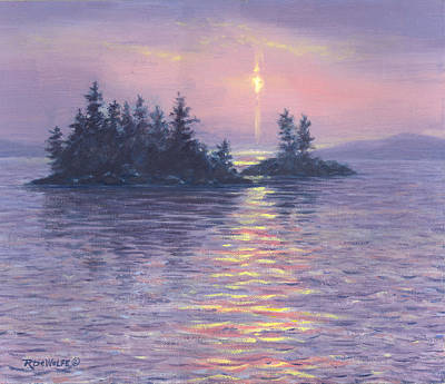 Moon Rise Painting - Moon Beam by Richard De Wolfe