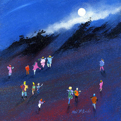 Moon Beam Search Art Print by Neil McBride
