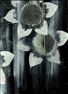 Assemblage Art Mixed Media - Moon Blooms by P J Lewis