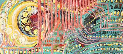 Reasoning Painting - Moon Bunnies by Melanie Rae Zero