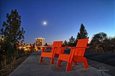 Photograph - Moon Chairs by Dan Quam